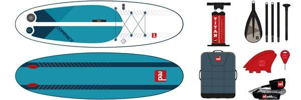 Red Paddle Co. 9'6 Compact szett
