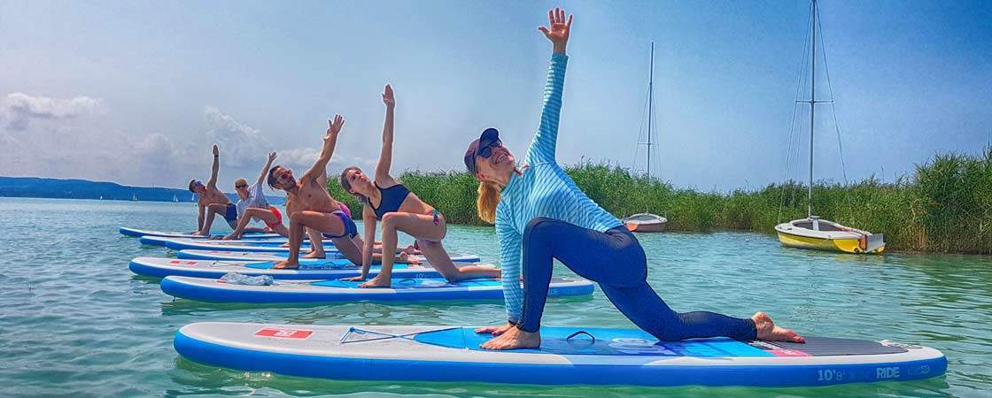 SUP yoga at Lake Balaton – weekend