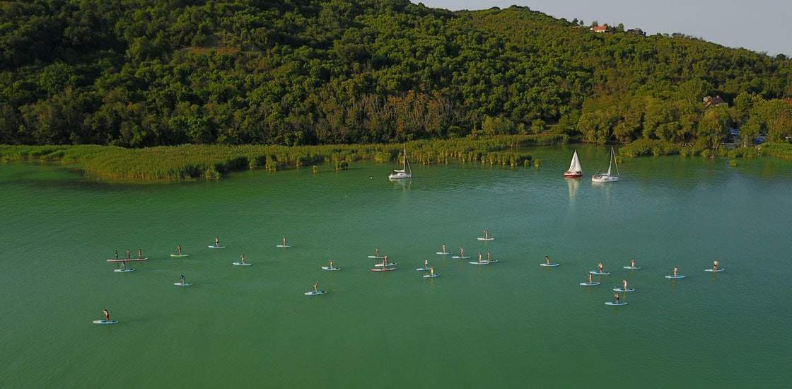 SUP tour at Tihany, Lake Balaton