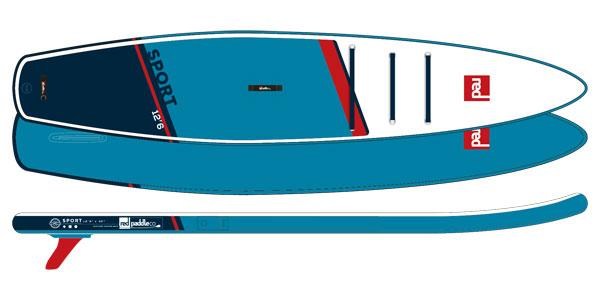 RED Paddle Co. 12'6 SPORT SUP deszka